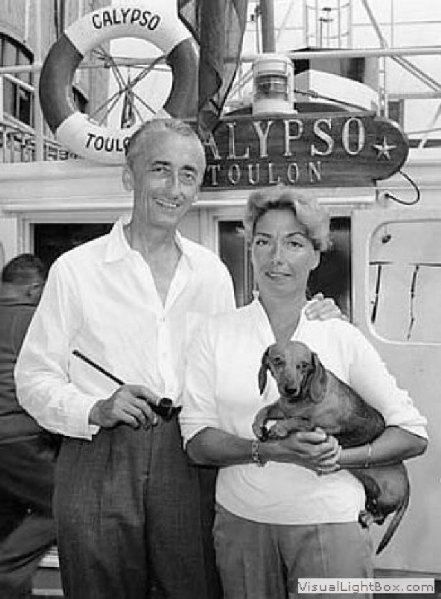 Jacques-Cousteau-with-wife Il Capitano Jacques Cousteau: 30 immagini per ricordarlo