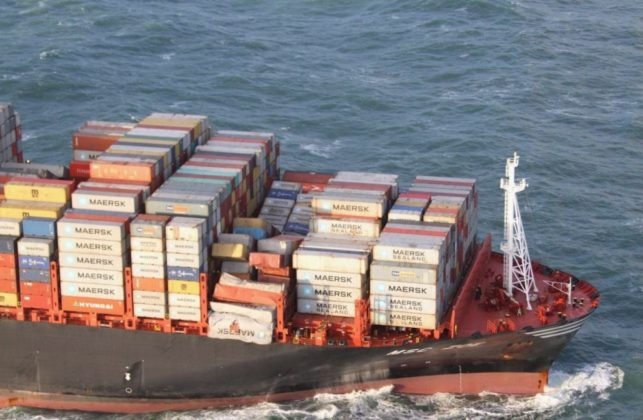 nave cargo germania a 643x420 - Nave cargo MSC ZOE per 270 container in mare